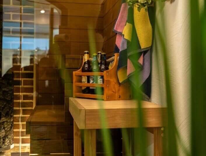 Arched sauna at a building fair